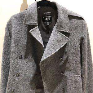 Cropped grey Ungaro pea coat